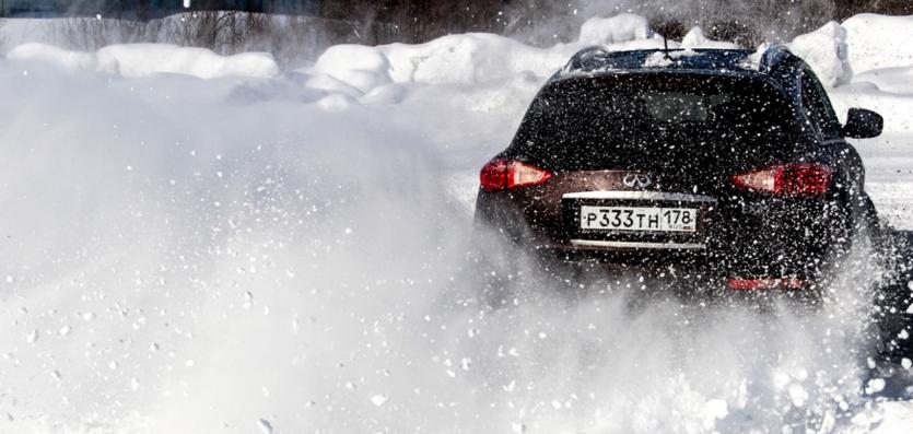 Езда по рыхлому снегу