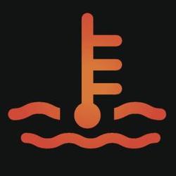 Горит лампочка температуры охлаждающей жидкости