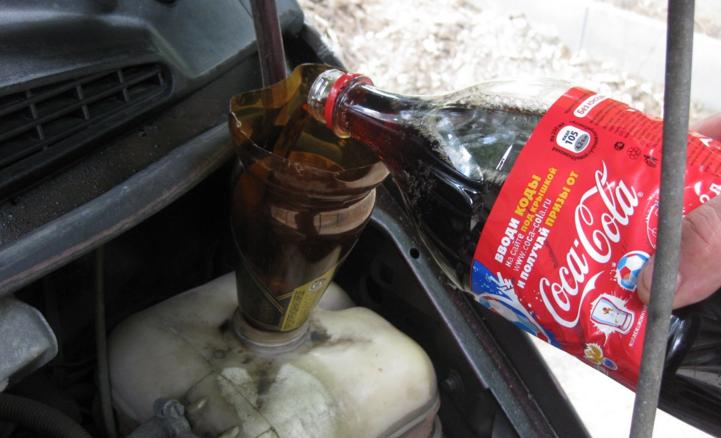 Как промыть систему охлаждения двигателя кока-колой