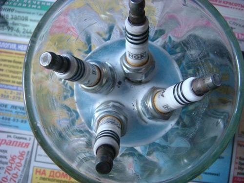 Чистка свечей зажигания бытовой химией