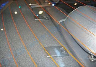 Разрыв нитей обогревателя заднего стекла