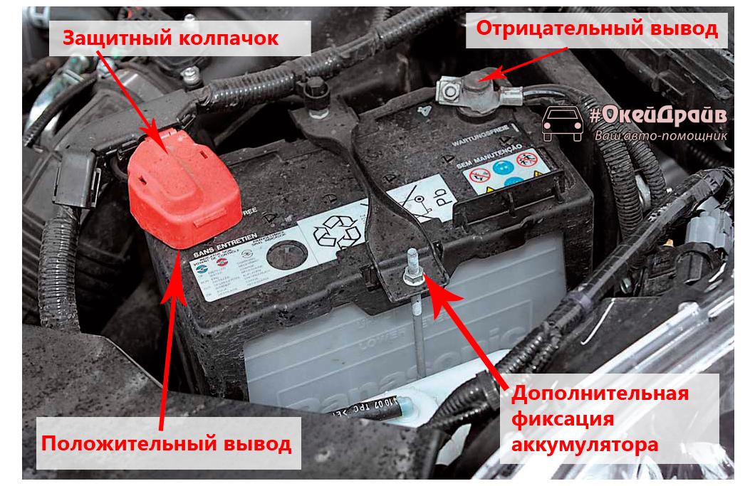 Как снять аккумулятор с автомобиля - инструкция